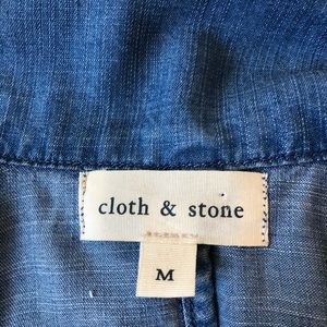 Anthropologie Jackets & Coats - Anthropology Cloth & Stone chambray trench coat M